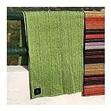 Craft Story Decke YARA I Uni apfelgrün aus 100% Baumwolle I Tagesdecke I Sofa-Decke I Couch-Überwurf I Bedspread I Plaid I Picknickdecke I Läufer I Nutzdecke I 170 x 220cm - 5