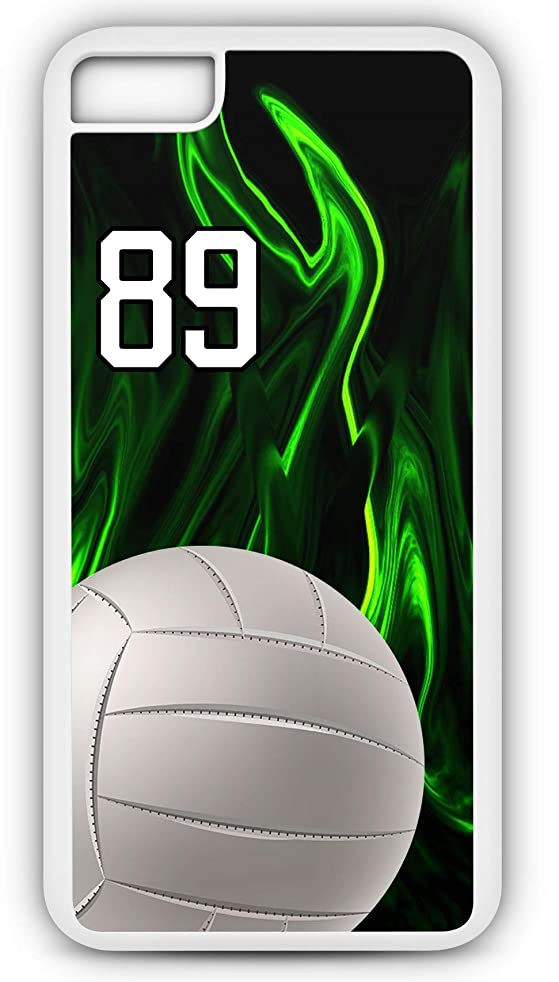 iPhone 6s Case Volleyball V011Z Choice of Any Personalized Name or Number Tough Phone Case by TYD Designs in Black Plastic and Black Rubber with Team Jersey Number 89