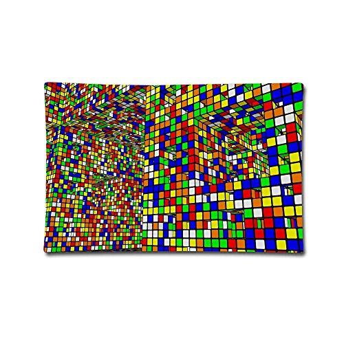 Homlife Fundas de Almohada 20'X30' Rubik 's Cube World Suave estándar Fundas de Almohada Doble Impreso Fundas de cojín Coche sofá decoración del hogar