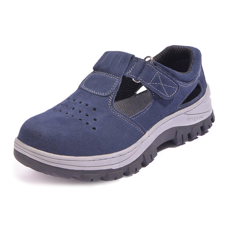 窓を洗うボイド獲物[Placck安全]作業靴 安全靴 短靴 通気 サンダル 耐酸 耐アルカリ 防滑 防油 24.5cm-27.5cm