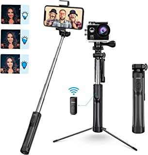 Mpow Selfie Stick Tripod, All in 1 Portable Extendable Selfie Stick with Bluetooth Remote..