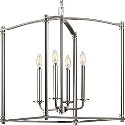 Winslett Collection Brushed Nickel Four-Light Foyer