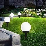 SEFON Solar Gartenleuchte Wasserdichte Solarlampe für Garten Kunststoff Gartenkugel mit Erdspieße...