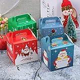【BEAUTY PLAYER】ギフトボックス クリスマス お菓子 ラッピング 8個セット 手提げボックス ギフトラッピング クリスマス プチギフト 個包装 クリスマス チョコレート クッキー リンゴ キャンディーボックス(正方)