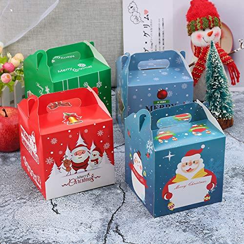 ギフトボックス クリスマス お菓子 ラッピング 8個セット 手提げボックス ギフトラッピング クリスマス プチギフト 個包装 クリスマス チョコレート クッキー リンゴ キャンディーボックス(正方)