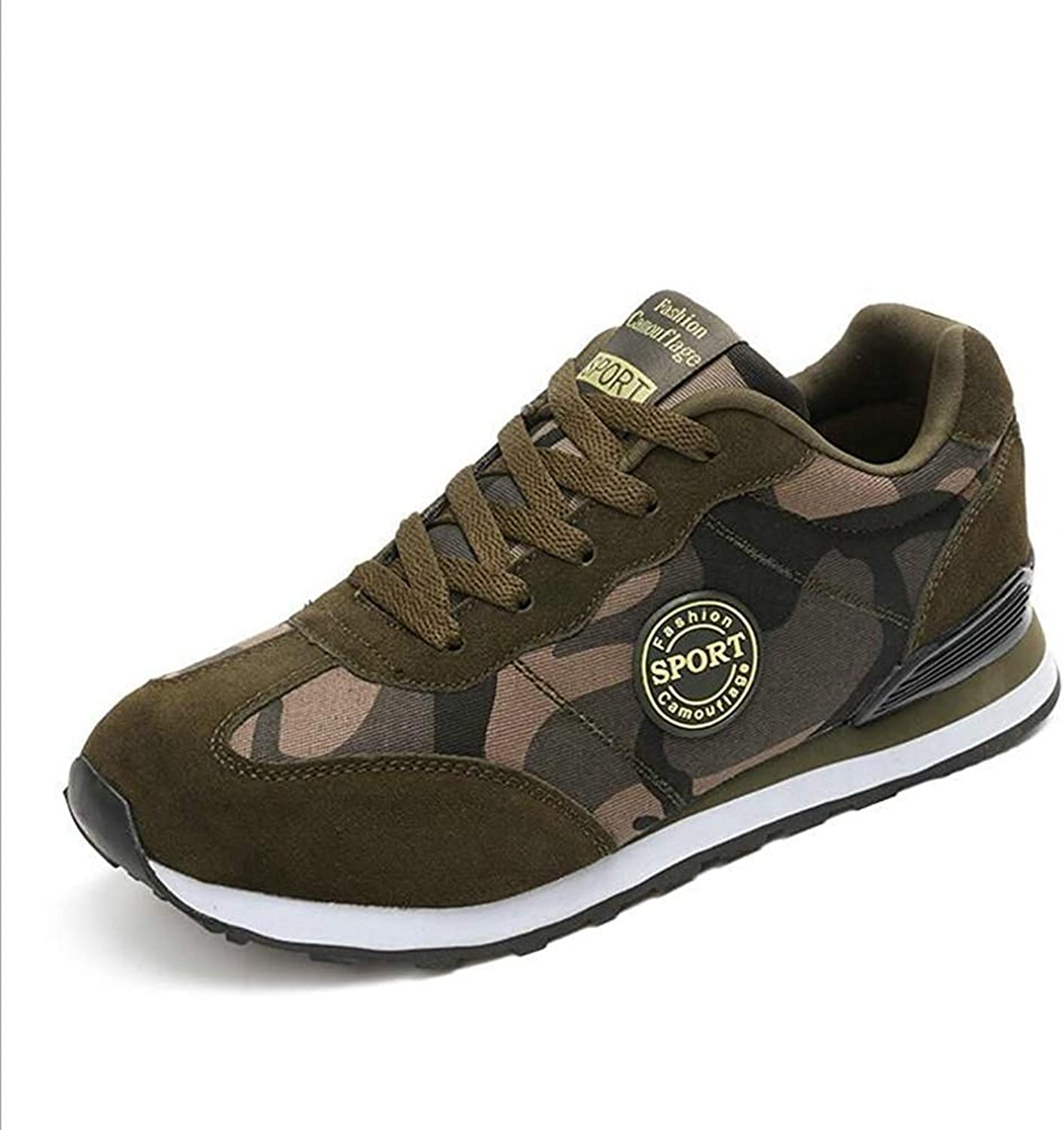 Gcanwea Women Spring Fashion Lace Up Canvas shoes Autumn Luxury Army Green Camouflage Wedge Platform Casual shoes Green 5 M US