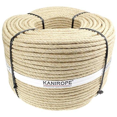 Kanirope® Hanfseil HEMPTWIST ø6mm 100m 3-litzig gedreht