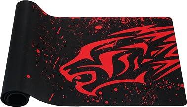EXCO Dick Smooth extra grande XL Gaming Matte superficie lisa para ratón de Comfortable Mouse Pad Superfine Fiber Surface Smooth Silk, color XL Red Leopard