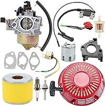 Harbot GX390 Carburetor Carb Recoil Starter for Honda 390 340 GX GX340 13HP 11HP EnginesParts Replace 16100-ZF6-V01 16100-ZF6-V00