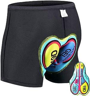 HTTOAR Calzoncillos de Bicicleta Ropa Interior Pantalones Cortos de Ciclismo Deportivo Pantalones Cortos de Bicicleta Acolchados 3D para Hombre Ropa Interior con Antideslizantes