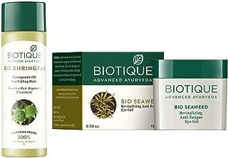 Biotique Therapeutic Oil, 200ml With Biotique Eye Gel, Seaweed, 15g