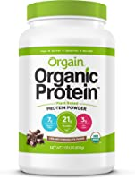 Orgain Organic Plant Based Protein Powder, Creamy Chocolate Fudge - Vegan, Low Net Carbs, Non Dairy, Gluten Free,...