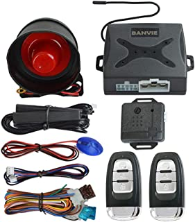 BANVIE PKE Car Alarm System with Passive Keyless Entry