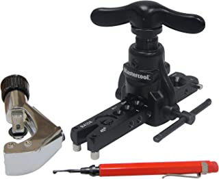 Mastercool 70058 Eccentric Flaring Tool Complete with Cutter, Deburring Tool and Plastic Box