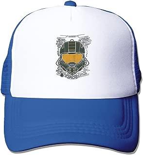 Halo 5 Master Chief HUD Helmet Mesh Adjustable Caps Sun Hats Custom Custom Baseball Caps