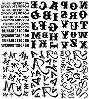 [KING HORSE (キングホース)] タトゥーシール 英文字 アルファベット [通常サイズ・6種6枚] hm6035