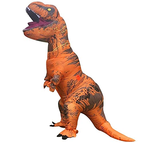 Adult Dinosaur Costume Tyrannosaurus Rex Clothing Adult Inflatable Suit Adult Fancy Dress H2.2M(Total 3.2M including tail)