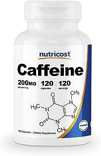 Nutricost Caffeine Pills 200mg, 120 Caps