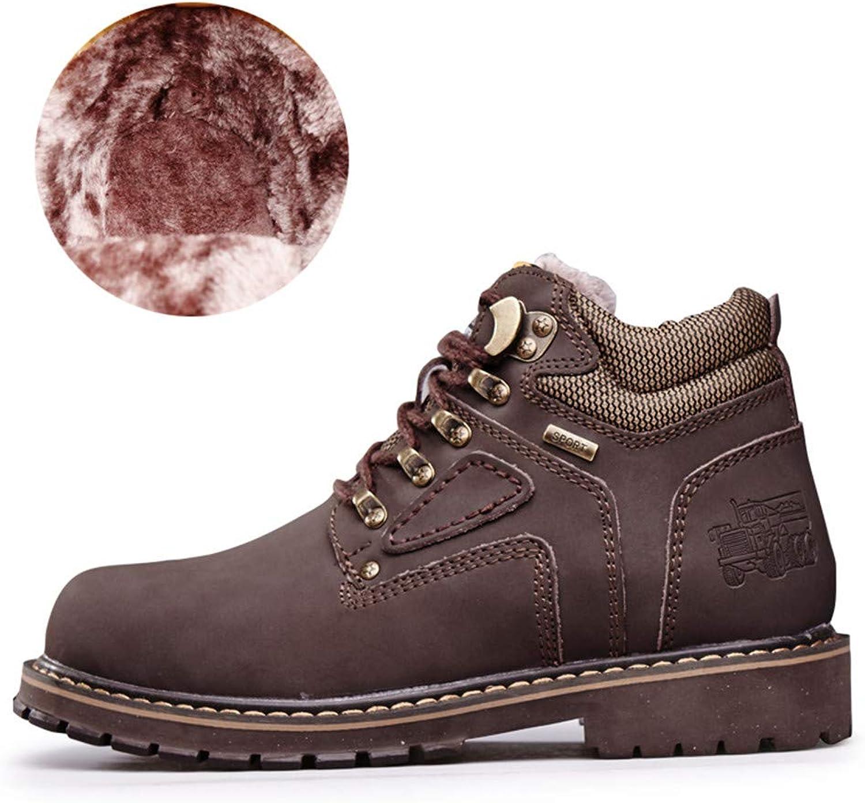 Mans Ankle stövlar, Casual Classic Round Top Top Top Top Top Top Top Cotton Warm Outole Work skor (konventionellt valfritt)  upp till 42% rabatt