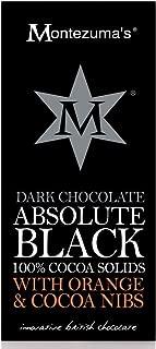 Montezuma's Dark Chocolate Absolute Black with Orange and Cocoa Nibs