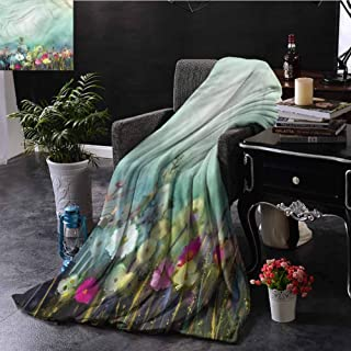 Anyangeight Blankets, for Bed Couch Chair Super Soft Oversized Throw Blanket Indoor/Outdoor Use Camping, Flower | Dandelion Daisy Poppy - 39