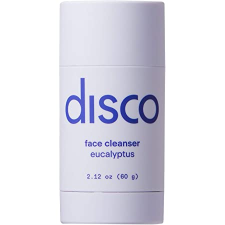 Face Cleanser Stick by Disco for Men, Hydrating, Removes Dirt and Build Up, All Natural and Paraben Free, Eucalyptus Scent, 2.12 Ounces