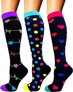 Diu Life Calcetines de compresión para Mujeres y Hombres 20-25 mmHg: los Mejores Calcetines médicos, para Correr, enfermer...