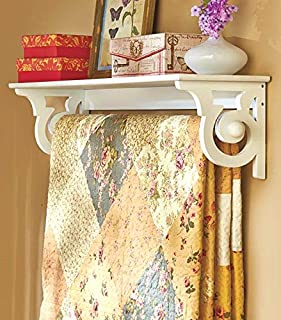 Scrolled Side Wall Shelf with Quilt Hanger