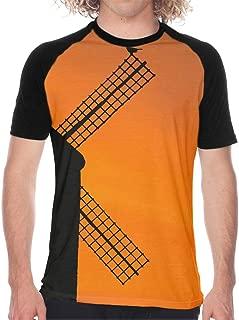 Men's Short Sleeve Baseball T-Shirts Windmill Shirt