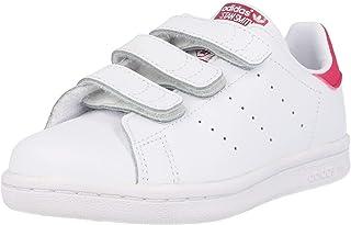 adidas Originals Stan Smith CF C, Baskets Mixte Enfant, Cloud White/Cloud White/Pink, 33 EU