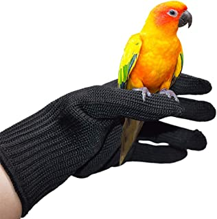 QBLEEV Bird Training Anti-Bite Gloves, Small Animal Handling Gloves, Chewing Protective Gloves for Parrot Squirrels Hamster Hedgehog (1 Pair)