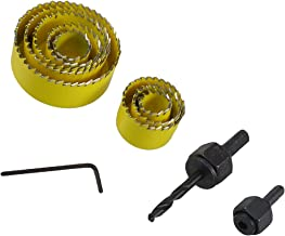 X-Dr 11 in 1 Round Triangle drill hole Twist Drill Bit Hole Saw Set Yellow Black (53df5c3d-a222-11e9-8d7c-4cedfbbbda4e)
