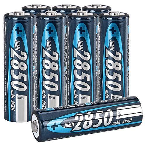 ANSMANN 2850mAh Slimline NiMH AA Rechargeable Batteries, 8-Pack