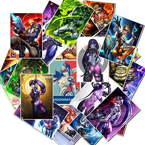 25Pcs Classic Shooting Game Overwatch Stickers scrapbooking For Skateboarding Guitar Motorcycle Luggage Nagel Stickers