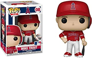 POP! Sports MLB Los Angeles Angels, Mike Trout Away Jersey Action Figure (Bundled with Pop Box Protector to Protect Display Box)
