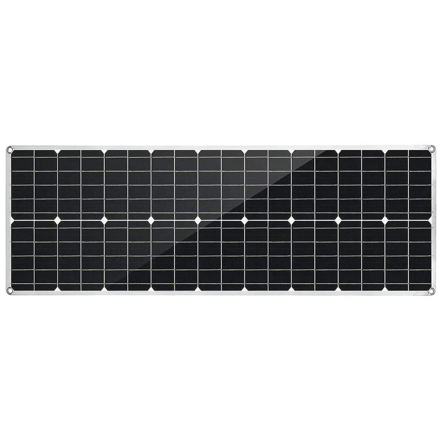 いつでも厚いふつうソーラーパネル 80W屋根ボート車PET柔軟なデュアルUSBソーラーパネルDC出力のバッテリーチャージャー (Color : Black, Size : 80w)