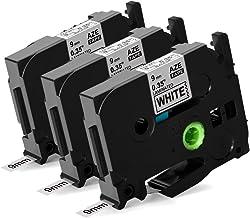 specmark Schriftband TZe-111 6mm x 8m Schwarz auf Durchsichtig Band kompatibel mit allen Drucker Brother PT P-touch AZe-111 EZe-111 TZ-111 TZ2-111