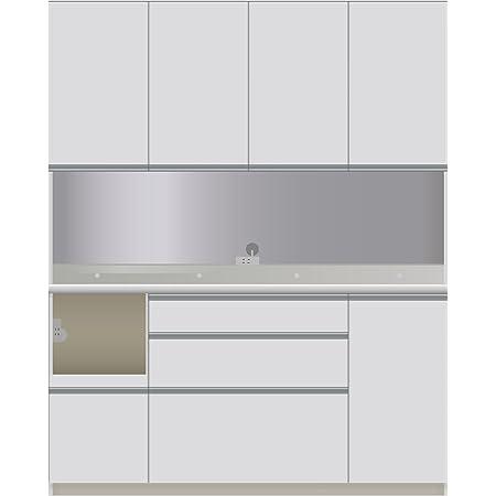 パモウナ 食器棚CI パールホワイト 幅160×高さ198×奥行45 日本製 CIL-S1600R