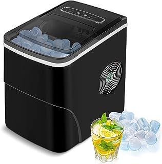 VAZILLIO Machine à Glaçons pour Maison/Office - 9 pcs Glaçons Prêt en 6 Minutes - 13kg/Jour- 2 Tailles de Glaçons, Nouvell...