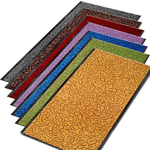 Meisterei Schmutzfangmatte Türvorleger Brasil Sauberlaufmatte Fußmatte rutschfest, Waschbar, für Innen und Außen Geeignet (Violett, 90x150 cm)