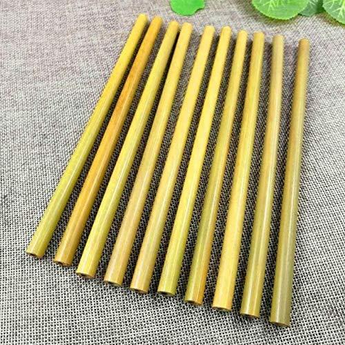 Pajitas de bambú orgánico para fiestas, cumpleaños, bodas, madera ...