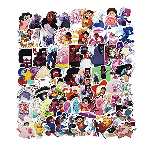 Steven Universe Stickers 63pcs Decals for Laptops Water Bottles Toys and Gifts for Teens,Girls,Perfect for Laptop,Hydro Flask,Phone,Skateboard,Travel  Extra Durable Vinyl (Steven Universe)