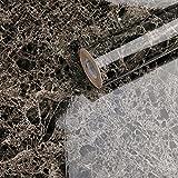 CARYWON Adhesivo Papel Marmol para Muebles PVC Marmol Impermeable y Aceite Impermeable Papel Pared para la Cocina Encimera Oficina de Baño Mármol Gris Claro, 60 X 200cm (Marron Oscuro)