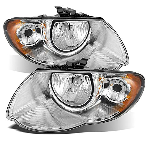"ACANII - For 2005-2007 Chrysler Town & Country 119"" Wheel Base Chrome Headlights Headlamps Replacement Driver+Passenger"