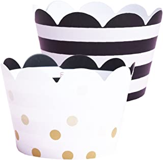 striped cupcake cases