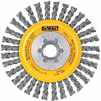 Weiler 13131 Stringer Bead Knot Wire Wheel 0.02 5//8-11 UNC 4 Diameter x 3//16 W 20000 rpm
