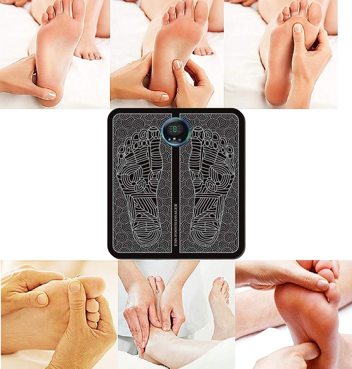 暖かさソーダ水一族足循環装置Intelligent Electric EMS Foot Massage Portable Pad(充電タイプ)