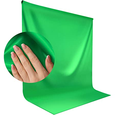 LimoStudio, 9 x 13 ft. Green Chromakey Durable Soft Backdrop Muslin Background for Photo Video Shooting, Streaming, Chromakey Effect, Photo Studio, AGG1846