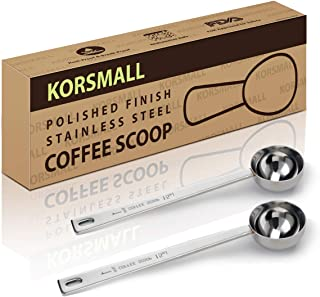 Measuring Coffee Spoon 1 Tablespoon Coffee Scoop with Long Handle,15ml Stainless Steel Coffee Scoop Set, Pack of 2