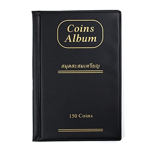 Coin Collection Album Book Holder for 120 Coins Lot of 4 Black
